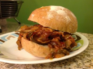 "Vegan ""Pulled Pork"" Sandwich"