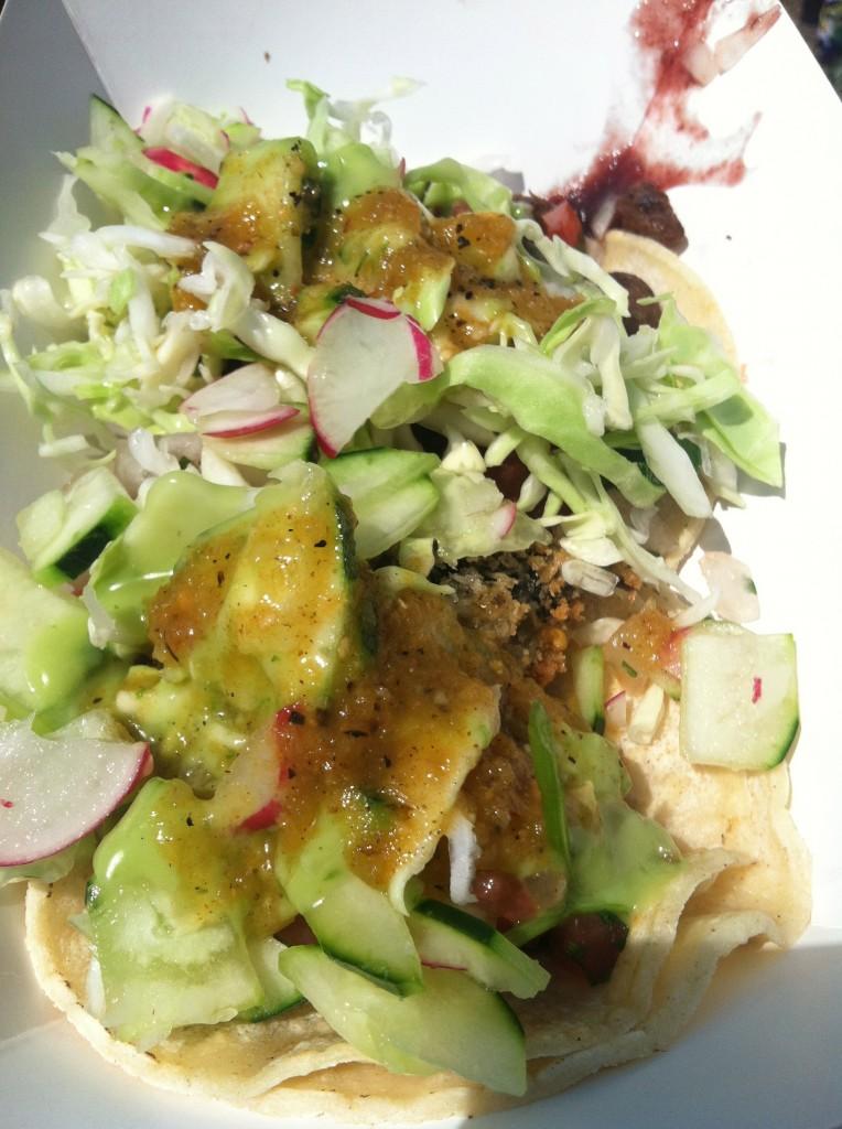 "Vegan Portobello ""Fish"" Taco and ""Carnitas"" Taco"