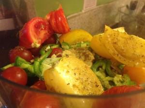 Spicy Cherry Tomato & Heirloom Tomato Salsa