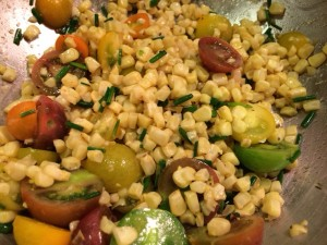 Quinoa Salad with Corn and Cherry Tomatoes