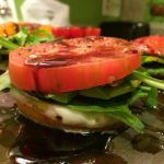 tomatoe arugula vinegar