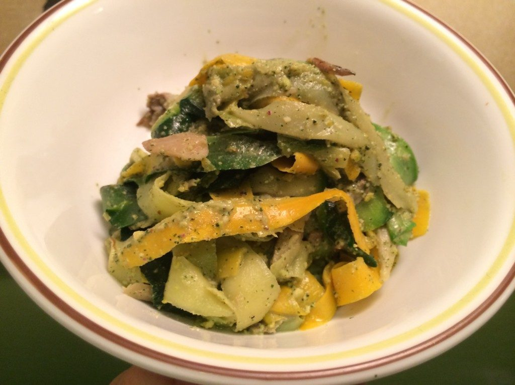 finished zucchini pasta dish